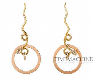 ROSSELLA UGOLINI THREE COLOUR SNAKE EARRINGS