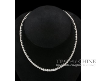 GUY AND MAX DIAMOND DECO NECKLACE