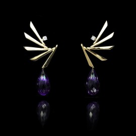 GUY & MAX PHOENIX AMETHYST EARRINGS ATTACHMENTS