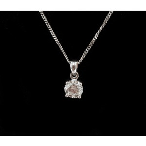 GUY AND MAX 4 CLAW VINTAGE DIAMOND PENDANT
