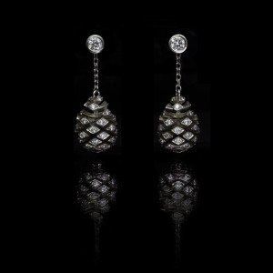 GUY AND MAX NATURE FIR CONE EARRINGS
