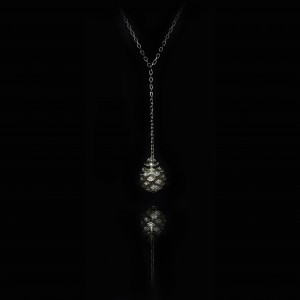 GUY AND MAX DIGITAL NATURE FIR CONE NECKLACE