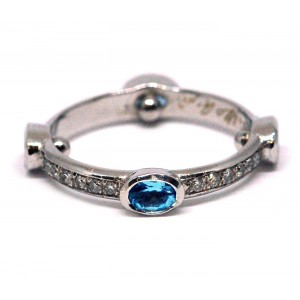 ROSSELLA UGOLINI STACKING RING WITH AQUAMARINES